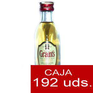 Whisky - Whisky Grants Escocés 5cl - CAJA DE 192 UDS