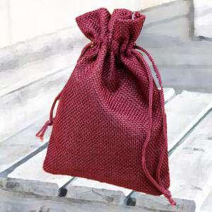 Bolsas de Yute 13x18 cm - Bolsa de Yute Burdeos 13x18 capacidad 12x15 cms.