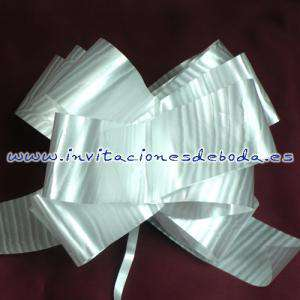 Lazos - Flor-Lazo Decoración Mod 09 (BLANCO) (Últimas Unidades)