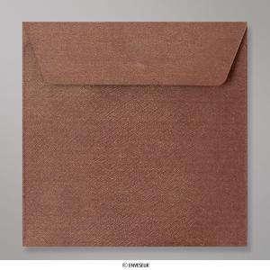 Sobres Cuadrados - Sobre Marron Textura Brillante (CEB155BO)
