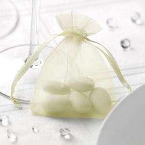 Tamaño 07x09 cms - Bolsa de organza Crema o Beige 7x9 - capacidad 7x7.5 cms.