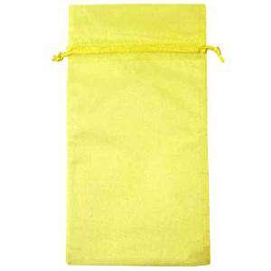 Tamaño 15x36 cms. - Bolsa de organza Amarilla 15x36 capacidad 15x31 cms.