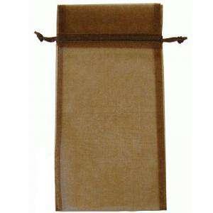 Tamaño 15x36 cms. - Bolsa de organza Marrón 15x36 capacidad 15x31 cms.