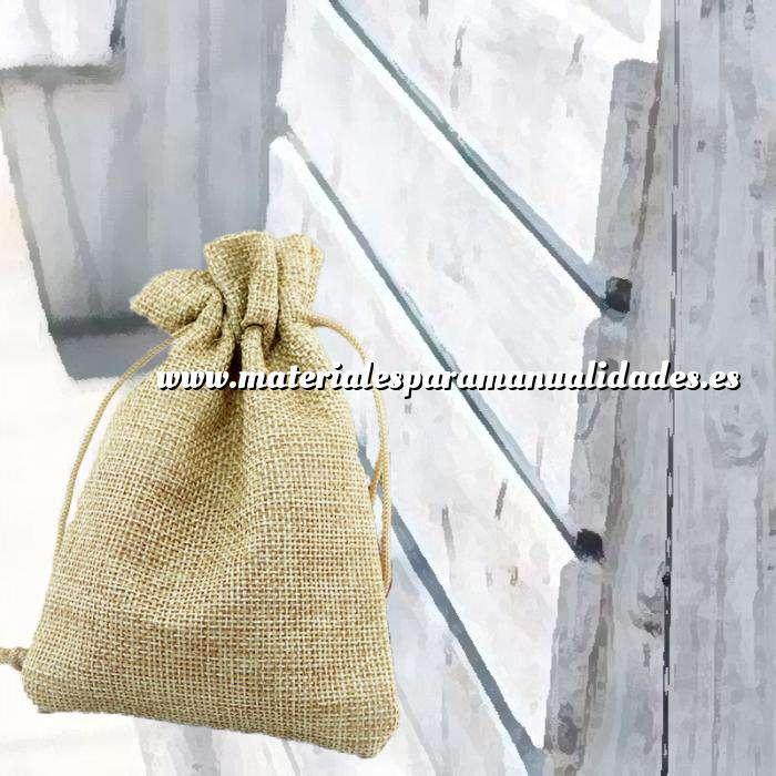 Imagen Bolsas de Yute 10x14 cm Bolsa de Yute Natural TONO CLARO 10x14 capacidad 9x11 cms. (Últimas Unidades)