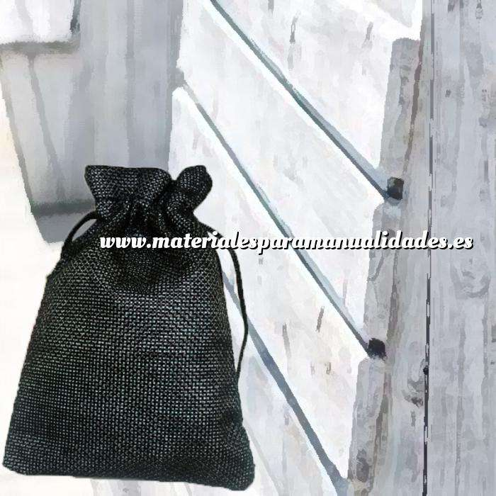 Imagen Bolsas de Yute 10x14 cm Bolsa de Yute Negro 10x14 capacidad 9x11 cms.