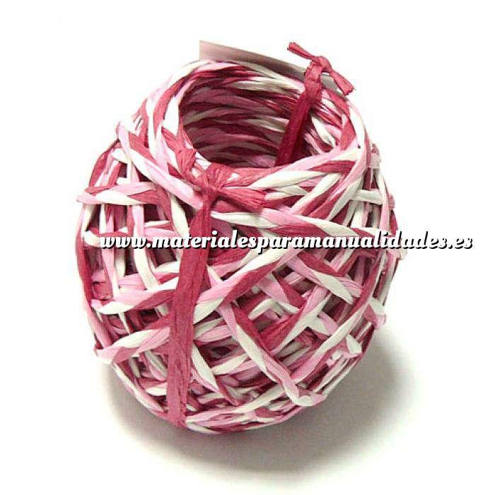 Imagen Cintas Decorativas Rafia Trenzada Rosa 15 m (3 mm)