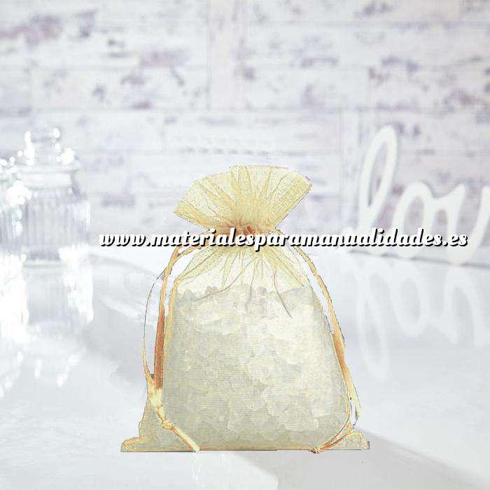 Imagen Tamaño 14x17 cms. Bolsa de organza Crema o Beige 14x17 capacidad 13x13 cms. (Últimas Unidades)