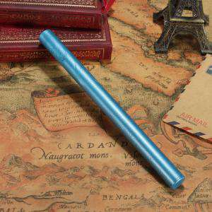 Barras para pistola - Barra Lacre 10mm Flexible Azul Capri Metalizado para Pistola