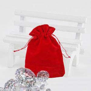 Bolsa de Antelina 9X12 - Bolsa de Antelina Roja 9x12 capacidad 9x9 cms