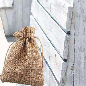 Bolsas de Yute 10x14 cm - Bolsa de Yute Natural TONO OSCURO 10x14 capacidad 9x11 cms. (Últimas Unidades)