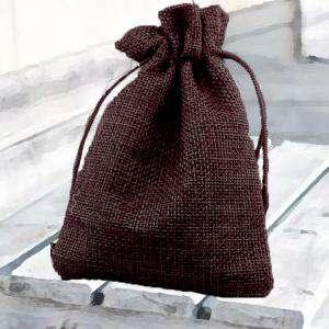 Bolsas de Yute 13x18 cm - Bolsa de Yute Marrón Chocolate 13x18 capacidad 12x15 cms.