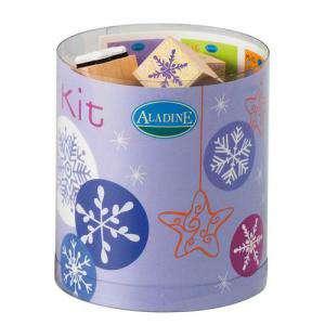 Kits Infantiles y Bautizo - Sellos Nieve. Incluye 15 diseños y 1 tampón negro (Descatalogado) (ultimas uds) (Últimas Unidades)