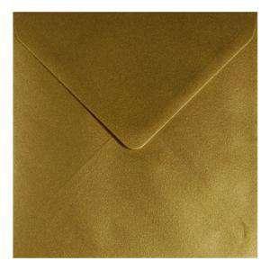 Sobres Cuadrados - Sobre Dorado Metálico Cuadrado