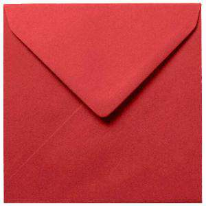 Sobres Cuadrados - Sobre burdeos Cuadrado (rojo escarlata)