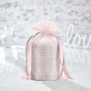 Tamaño 15.5x24 cms. - Bolsa de organza Rosa 15,5x24 capacidad 15x20 cms.