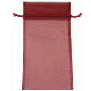 Tamaño 15x36 cms. - Bolsa de organza Burdeos 15x36 capacidad 15x31 cms.