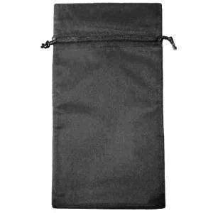 Tamaño 15x36 cms. - Bolsa de organza Negra 15x36 capacidad 15x31 cms.