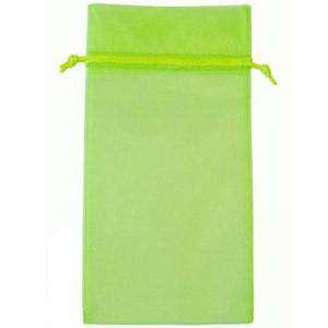 Tamaño 15x36 cms. - Bolsa de organza Verde 15x36 capacidad 15x31 cms.