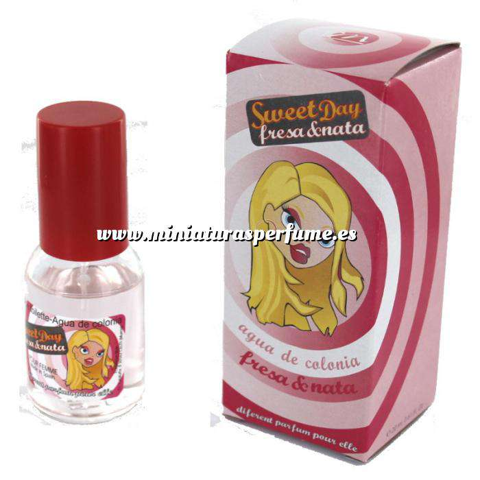 Imagen Mini Perfumes Mujer Fragancia dulce Sweet Day Eau de toilette - Fresa y Nata 20ml. (Últimas Unidades)