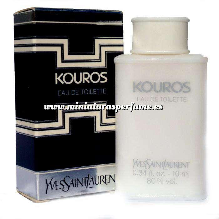 Imagen -Mini Perfumes Hombre Kouros 1ª versión (Caja lisa) Eau de Toilette by Yves Saint Laurent 10ml. (Últimas Unidades CAJA DEFECTUOSO) (Últimas Unidades)