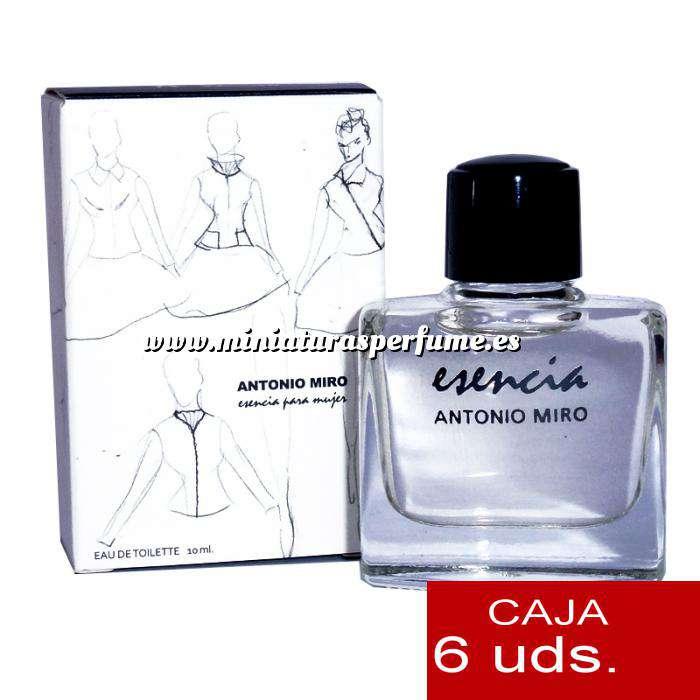 Imagen .PACKS PARA BODAS Esencia para mujer Eau de Toilette by Antonio Miró 10ml. PACK 6 UNIDADES