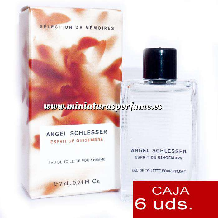 Imagen .PACKS PARA BODAS Esprit de Gingembre Eau de Toilette by Angel Schlesser 7ml. PACK 6 UNIDADES