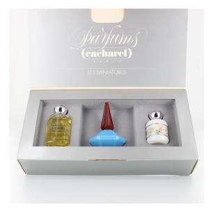 EDICIONES ESPECIALES - Set de miniatura parfums cacharel x 3 EDICIÓN ESPECIAL caja marcada (Últimas Unidades)