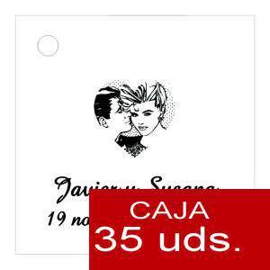 Etiquetas impresas - Etiqueta Modelo E04 (Paquete de 35 etiquetas 4x4)