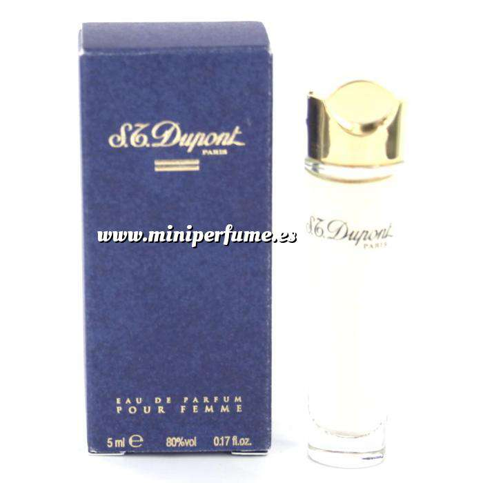 Imagen Mini Perfumes Mujer S.T. Dupont Eau de Parfum Pour Femme 5ml. Estuche de CARTÓN Azul (Ideal Coleccionistas) (Últimas Unidades)
