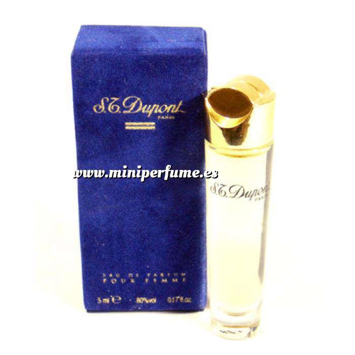 Imagen Mini Perfumes Mujer S.T. Dupont Eau de Parfum Pour Femme 5ml. Estuche de TERCIOPELO Azul (Ideal Coleccionistas) (Últimas Unidades)