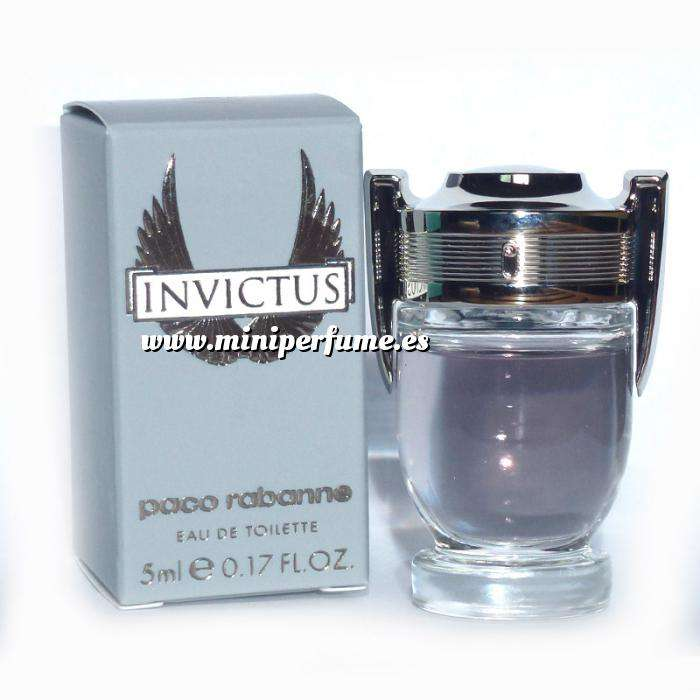 Imagen -Mini Perfumes Hombre Invictus Eau de Toilette by Paco Rabanne 5ml. Caja Manchada (IDEAL COLECCIONISTAS) (Últimas Unidades)