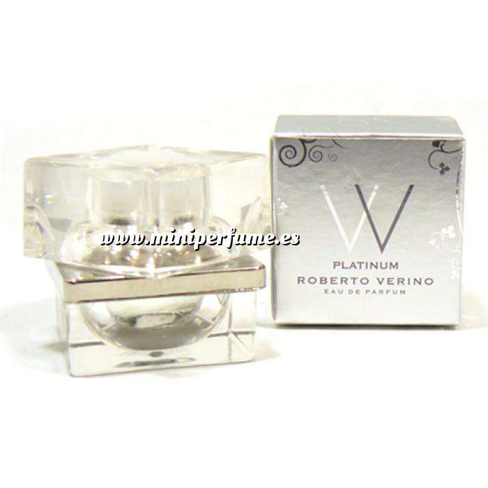 Imagen -Mini Perfumes Mujer VV Platinum Eau de Parfum de Roberto Verino 4ml. (Últimas Uds.) (Últimas Unidades)
