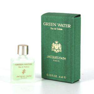 Mini Perfumes Hombre - Green Water Eau de Toilette by Jacques Fath Paris 4ml. (Últimas Unidades)