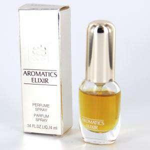 Mini Perfumes Mujer - Aromatics Elixir (CAJA PLATEADA ESPEJO - DETERIORADA) Perfume Spray by Clinique 4ml. (Últimas Unidades)