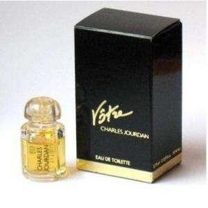 Mini Perfumes Mujer - Votre Eau de Toilette by Charles Jourdan 3.75ml. CAJA DORADA Y AZUL (Últimas Unidades)