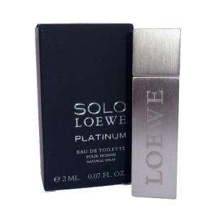 -Mini Perfumes Hombre - Solo Loewe Platinum Eau de Toilette Pour Homme by Loewe 2ml. (Ideal Coleccionistas) (Últimas Unidades)