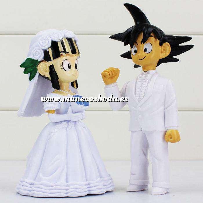 Imagen Novios Tarta Divertidos Muñeco Boda Goku y Chichi