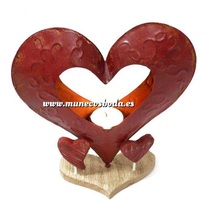 Imagen Novios tarta Clásicos Figura Pastel Vela Corazón Metal (Últimas Unidades)