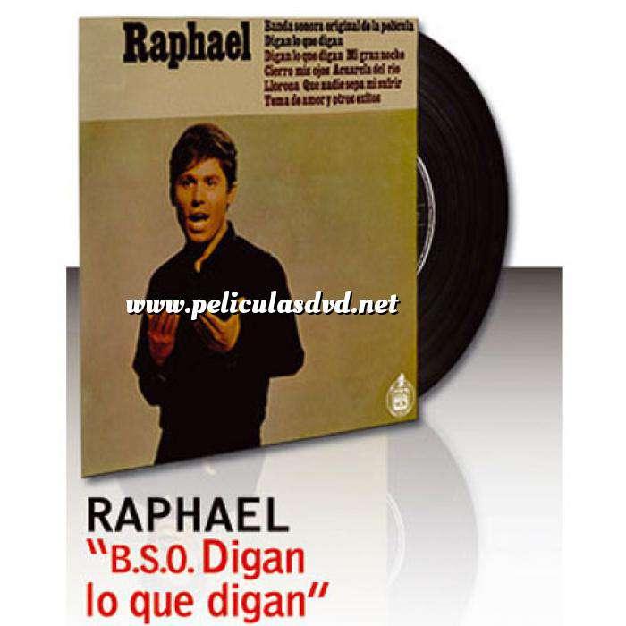 Imagen Discos de Vinilo Raphael - BSO Digan lo que digan - Vinilo (Últimas Unidades)