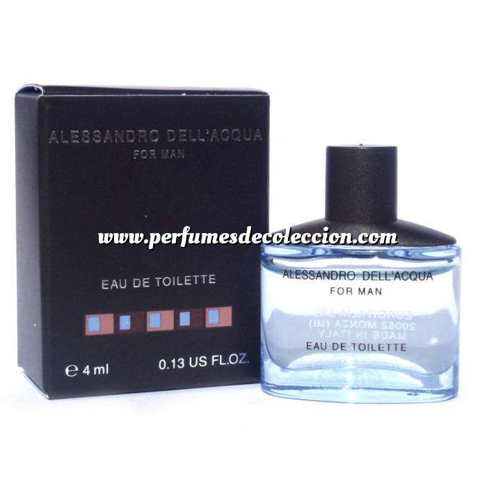 Imagen Mini Perfumes Hombre Alessandro Dell Acqua Eau de Toilette For Man 4ml. (Últimas Unidades)