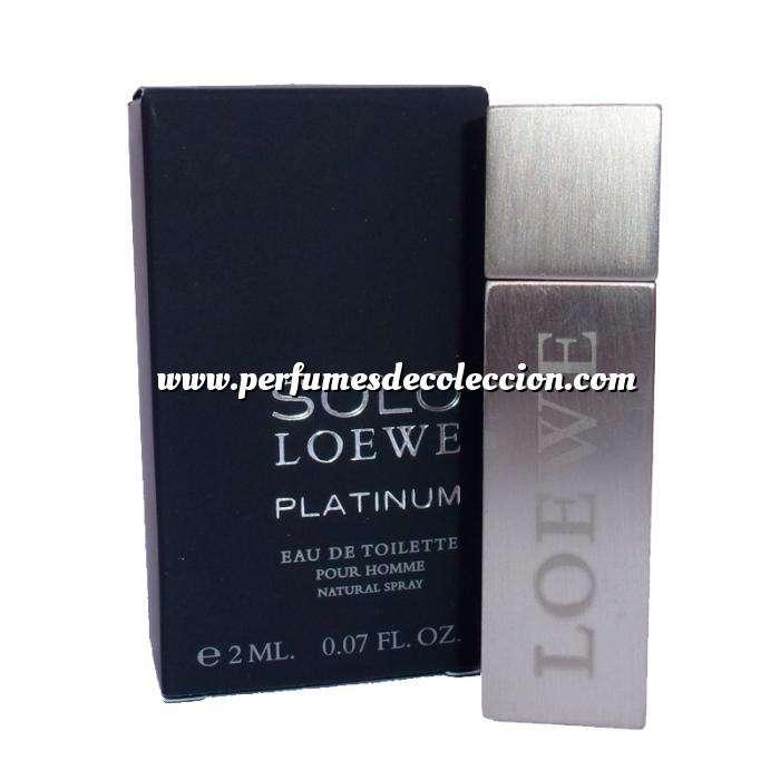 Imagen -Mini Perfumes Hombre Solo Loewe Platinum Eau de Toilette Pour Homme by Loewe 2ml. (Ideal Coleccionistas) (Últimas Unidades)