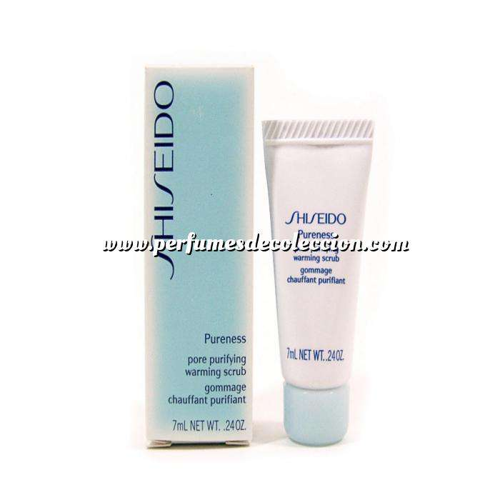 Imagen -Mini Perfumes Mujer Shiseido Pureness Pore Purifying Warming Scrub Exfoliante Gel 7 ml (Últimas Unidades)