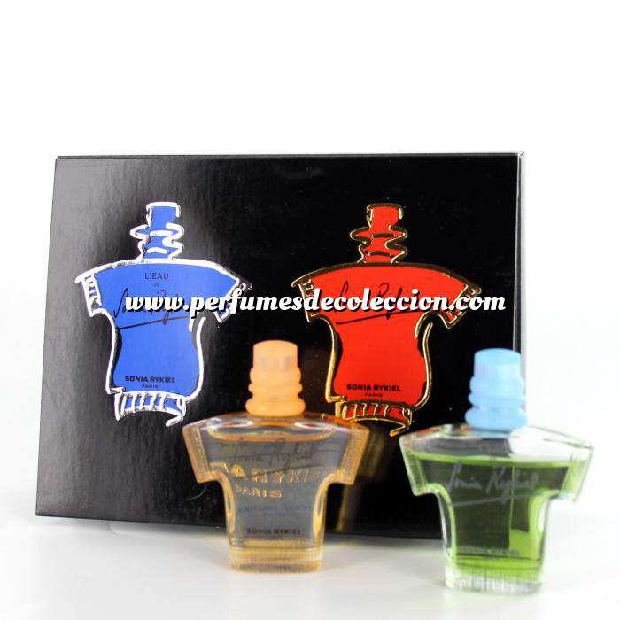 Imagen -Mini Perfumes Mujer Sonia Rykiel PACK de 2 (L Eau más Eau de Toilette) by Sonia Rykiel 7.5ml./ud. (ROJO más AZUL) (Últimas Unidades)