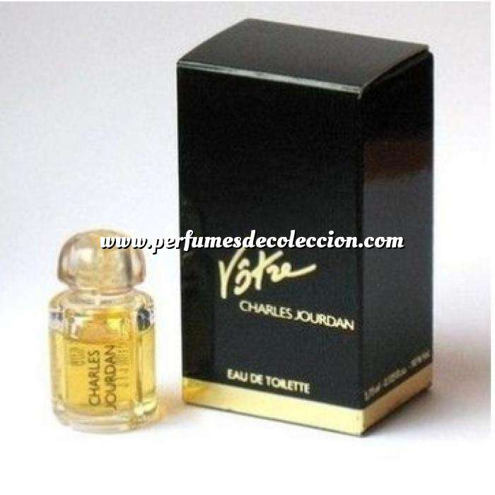 Imagen -Mini Perfumes Mujer Votre Eau de Toilette by Charles Jourdan 3.75ml. CAJA DORADA Y AZUL (Últimas Unidades)