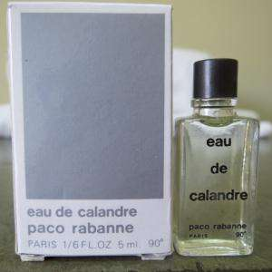 Mini Perfumes Hombre - Eau de Calandre by Paco Rabanne 5ml. CAJA MAL ESTADO (Últimas Unidades)