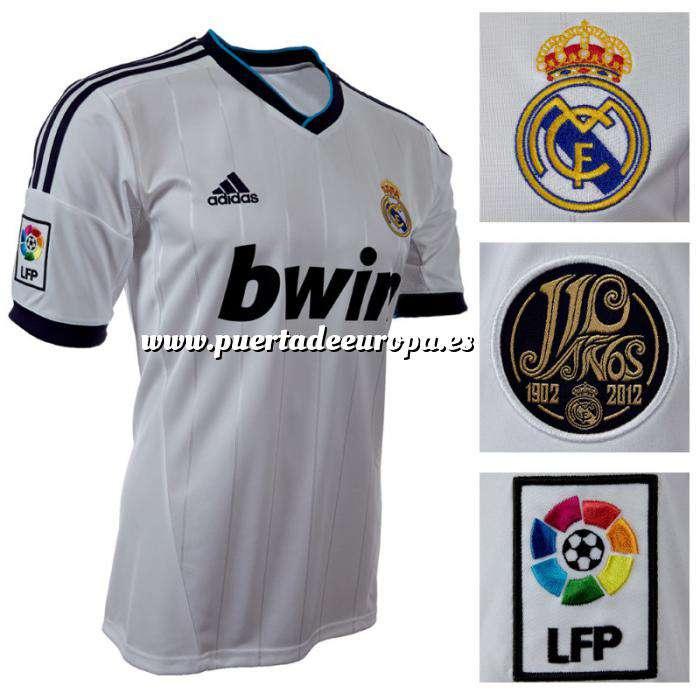 Imagen Camiseta Real Madrid Camiseta Oficial Adidas del 110 aniversario del Real Madrid - Talla M Blanca