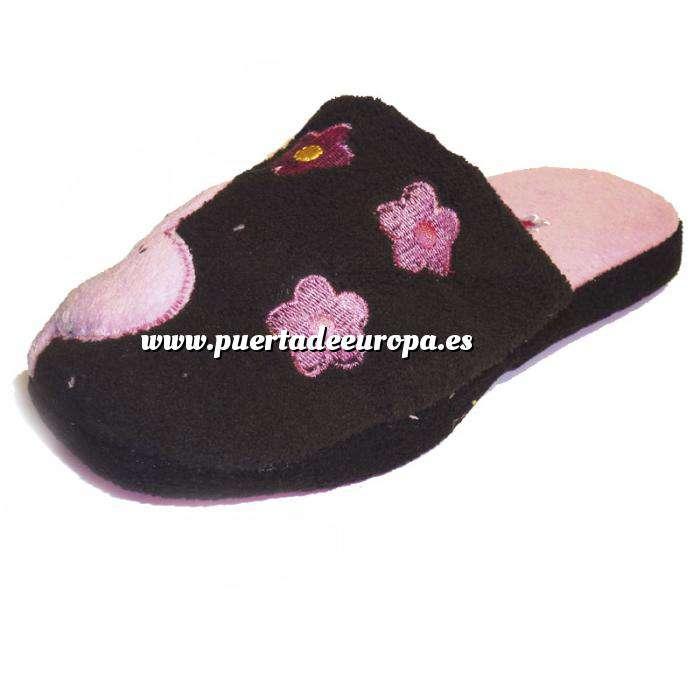 Imagen Rosa PFLR Pantunfla flores mujer Rosa Talla 36