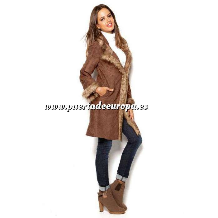 Imagen Talla 46+ (XXL) Abrigo Largo Mujer - Marrón Talla 50-52 (Últimas Unidades)
