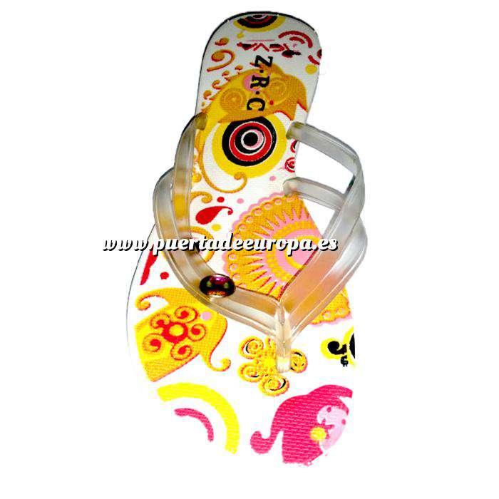 Imagen Tallas 35-39 Chancla Playa Blanca Colorines Talla 37 (PDE) (Últimas Unidades)