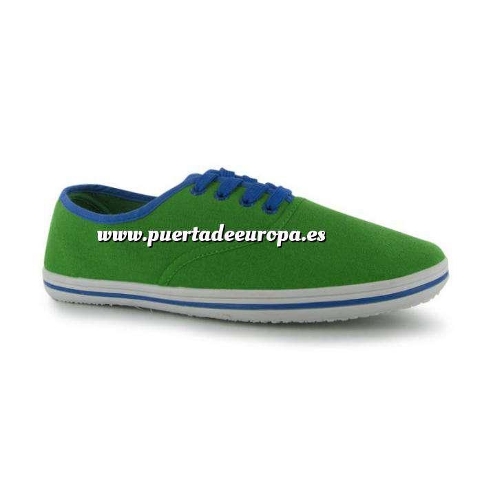 Imagen Tallas 36-44 Zapatilla de lona Verde online Talla 39.5 - SLAZENGER (Últimas Unidades)